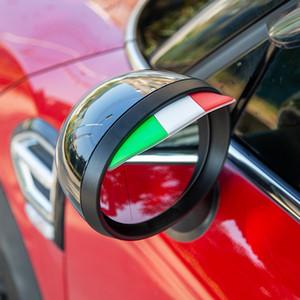 미니 쿠퍼 F54의 F55 F56의 F57의 F60 R55 R56 R60 R61 스타일링을위한 2 개 유연한 Flag 자동차 백미러 비 눈썹 바이저 스티커