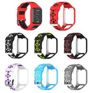Silikon-Ersatz-Uhrenarmband-Handgelenk-Band-Bügel für TomTom 2 3 Runner 2 3 Spark-3 GPS-Uhr-Band