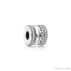 Authentic 925 Sterling Silver European Beads Charms Original box for Pandora Heart Bracelet Crystal charms jewelry making accessories