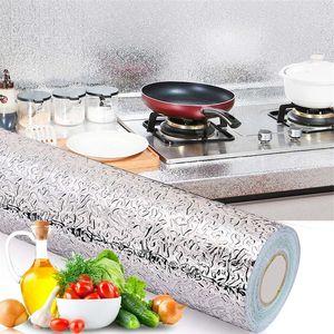 Cucina economica Cucina parete di alluminio a prova di olio Stickers resistente alle alte temperature autoadesivo Wall Sticker Bagno cassetti Adesivi 40 200cm *