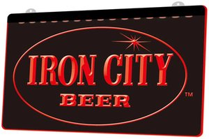 LS0799 0 Iron City Beer RGB LED couleur multiple à distance de contrôle Gravure 3D Neon Light Inscrivez-vous Boutique Bar Bar Club