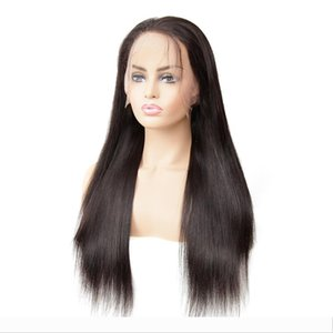 13x4 Remy Straight Lace Front Human Hair Wigs Brazilian Human Hair Wig For Black Pre Plucked With Baby Hair