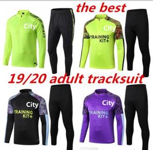 2019 2020 Mahrez G. GESU 'De Bruyne Calcio pubblico adulto tuta città Calcio KUN AGUERO giacca allenamento di calcio Jogging CHANDAL futbol