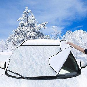 Nouvelle arrivée de voiture pare-brise couverture anti-neige givre bouclier de glace protecteur de poussière magnétique chaleur ombre soleil en gros Faroot populaire