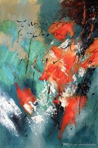 Virginie. HD Imprimer decores peinture abstraite par Pol Ledent Art huile sur toile Wall Art Home Office Déco Haute Qualité G210