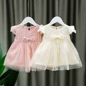 Fashion lace Baby Girl dress Clothes Summer Party Clothing for Girls Dress Princess Dresses beautiful Bow kids