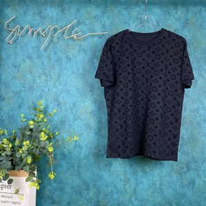 20SS Paris spring and summer new fashion embossed jacquard popular wild casual high quality clothes unisex top T-shirt newest hot sale tee