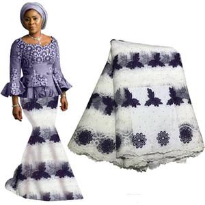 Últimas Tecido Lace Tulle nigeriano Net Laces tecidos de alta qualidade Africano Pedrinhas Laces Tecido Para Wedding Dress Francês