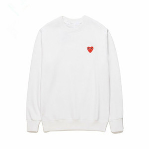Lover Best Quality HOLIDAY Heart Emoji Bianco Unisex CDG x A Play Bathing Red Heart Girocollo Felpe Ape Casual Felpe con cappuccio a manica lunga C
