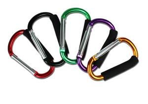 Carabiner Anahtarlık açık paten ayakkabı süpermarket kanca tokası Büyük Beden Renkli Alüminyum Alaşım D Şekli Tırmanma Düğmesi Sünger