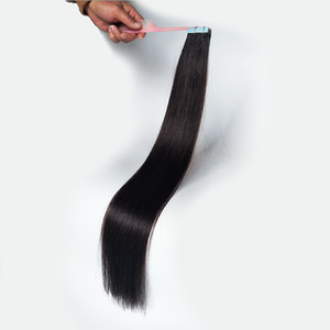 Tape In Human Hair Extensions Invisible Tape Remy Hair Extensions Cuticle Aligned Natural Color 14 To 28inch 20 Color Available Wholesale