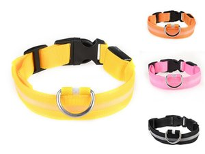 Simple Stripe Pet Metal Buckle Led Collar Cats Dogs Puppy Collars Leashes Suits Pug Bulldog Outdoors Play Pets Led Collar Supplies Wholes #47