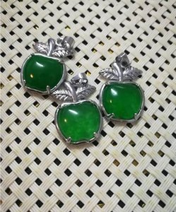 Natural emerald apple pendant for free delivery