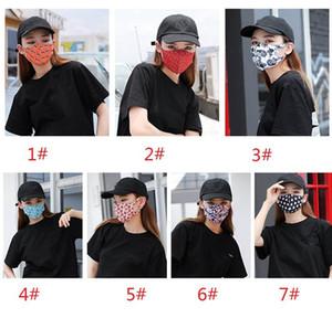 Hombres Mujeres Mascarilla Print Designer prueba de polvo al aire libre Máscara facial reutilizable protetive máscara de envío de DHL XHH9-3019