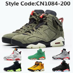 nike air jordan retro 6 Jumpman ترافيس سكوت 6 6S صبار جاك النسائية أحذية الرجال لكرة السلة هير 6 DMP الأشعة تحت الحمراء الأسود ولاية أوريغون البط الرجال المدربين أحذية رياضية