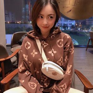 2020 mulheres capuz de luxo designer hoodiest Padrão Noble roxo bordado 380 Carat Tecido de veludo 3D clássico bordado Hoodies