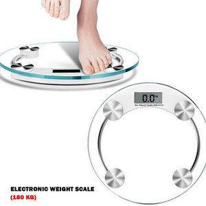 Transparent Digital Body Weight Scale Bathroom Scale with Glass Platform LCD Display 5KG to 180KG Capacity Tempered glass CX200805
