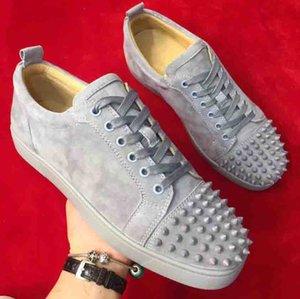 Blau Low Sneaker aus Wildleder mit stacheligen Toe Rantus Orlato Lovers gute Qualität beiläufige Schuh-Turnschuhe Großverkauf Freies Shiping