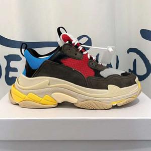 جديد مصمم أحذية الموضة للرجال والنساء مصمم أحذية سميكة القديمة سوليد الأحذية ستة طبقة مزيج وحيد المربع الأصلي حجم 35-45