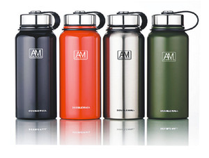 304 Edelstahl Vaccum Warm Tasse Bequeme Handhebe großes Volumen Außensportflasche Customerized Logo Service