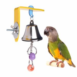 Parrot Bell Toys Birds Masticar Colgar Swing Cage Juguete Mordedura Accesorios Parakeet Beads Cockatiel Jugar Toy Pet Bird Suministros