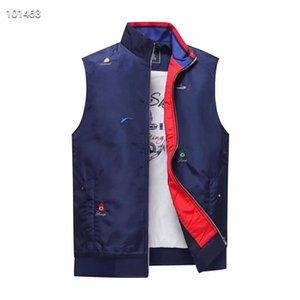 021 new Mens vest Fashion Cartoon Thai Shark Printing Zipper Waterproof trench coat Jacket Men High Quality Thin cotton sleeveless Keep warm