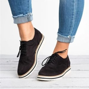 Duzeala mulheres calçados casuais Lightweight Design de Moda Flats for Shoes Lady Big Size Lace-Up Mulher 35-43