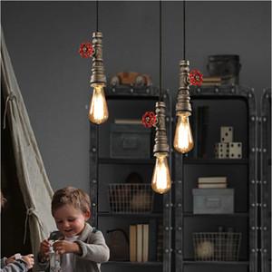 Loft Retro Industrial Iron Pipe Vintage Pendant Lamp Fixture