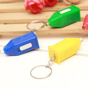 factory Led small flashlight blue light banknote detection lamp key chain pagoda banknote detection lamp stall hot wholesale