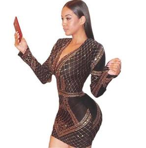 Женской Velvet Золочение Платье Sexy Щитовой Печать женщины Bodycon платье модельер Повседневная одежда Женщина Одежда