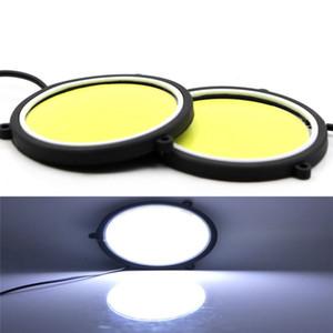 2PCS автомобиля DRL дневного света Гибкая круглой формы белого света СИД Driving светильник COB Автосвет-стилизации 12V DC 90mm CZ