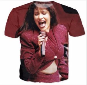 Casual Dos Homens Da Mulher Selena 3D HD Imprimir T-shirt de Verão de Manga Curta O-pescoço T-shirt Moda Estilo Unisex Camisa Marca Tees RX07