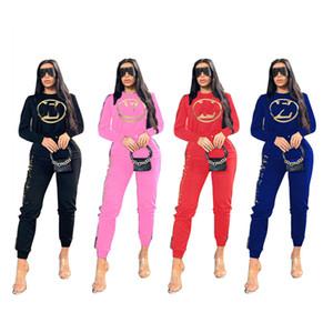 Women designer 2 piece set tracksuit fall winter clothing gym sweatshirt pants sportswear pullover leggings outfits outerwear bodysuits 0212