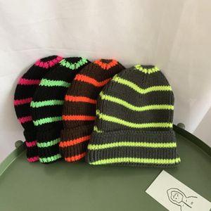 Otoño de los nuevos niños del invierno y sombreros de punto de lana al aire caliente de los sombreros de Navidad del partido del payaso raya sombreros de la Navidad ZZA959