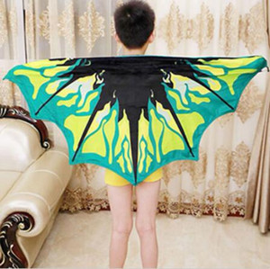 New Cozy Wings Baby Dream Butterfly Wing Cloak Kids Shawl Cartoon Multicolor Cape Kids Wing Magic Blanket Novelty Items A09022401 60*130cm