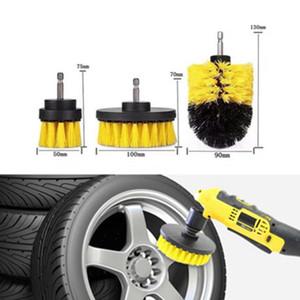 3шт / Set Electric Поломоечные кисти дрель кисти комплект Пластиковые Круглые Чистка ковров Для стекла автомобилей Шины Nylon Brushes 2020 новый