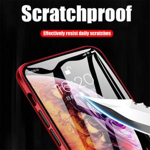 2020 자기 2.5D 곡선 강화 유리 케이스를 들어 애플의 아이폰 (11) 프로 맥스 360 커버 보호 케이스 양면 유리 커버 Fundas Coque