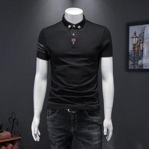 European goods 2020 Summer Galaxian short-sleeve T-shirt men's popular brand cool slim embroidered lapel half-sleeve polo