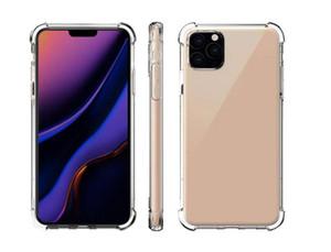 Прозрачный телефон чехол для iPhone 11 Pro MAX XS XR X для Samsung Note 10 S10 Антидетонационные TPU Защитный противоударный Прозрачная крышка