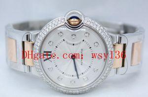 Topselling Alta calidad 18k ORO ROSA Y Acero WE902031 Reloj de movimiento de cuarzo para mujer Moda para mujer Wathces