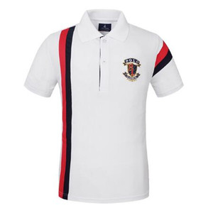 Мода Мужская рубашка поло Golf поло T футболки для мужчин Носите с коротким рукавом Топы Тис Обучение Осуществления Jerseys Туризм Рубашки