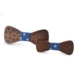 Design unique nouvelle tendance Accessoires pour enfants en bois massif en bois Bow Tie Mode Casual bébé écologique Bow Tie