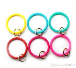 2019 Bijoux Teething silicone Trousseau O Bracelet Porte-clés Cercle Bracelet Bracelet Porte-clés, FoodKeychainBracelet clé RingFashion Keyring