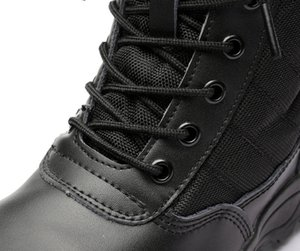 Delta Men Army Boots Hiking Male Zipper Tactical Boots Dropshipping SWAT Shoes for Men Black Military Boots waterproof size 46