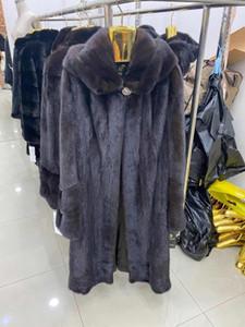 Rose Wishers Mink fourrure véritable manteau de fourrure naturelle hiver de femme Manteau de vison et vestes Femme Longue chaud Vintage Femmes Vêtements 2020 B-8