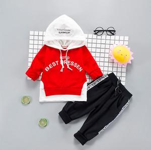 Babybekleidung Sets Kinder 1 2 3 4 Jahre Geburtstags-Anzug Jungen Tracksuits Kinder-Sport-Anzüge Pullover Top + Pants 2pcs Set