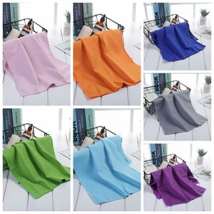 7 Colors 35*80cm Sports Cooling Towel Outdoor Travel Swimming Microfiber Towels Quick Drying Facecloth Washcloth Towel CCA11723 30pcs