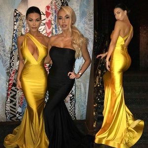 2020 Sexy un hombro vestidos de baile largos vestidos de fiesta de noche formales sirena Oscar alfombra roja vestidos de celebridades Vestidos de fiesta largos