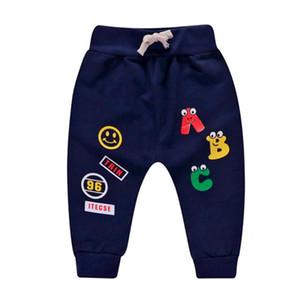 Мультфильм печати мальчики младенцы PP брюки эластичный пояс повседневная хлопок шаровары свободные брюки тренировочные брюки для весны осень