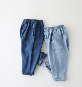 2020 best-selling boys' pants summer new style baby fashion pure cotton Tencel Jeans Shorts casual 7-point pants